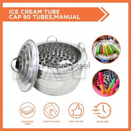 BRAVO Aiskrim Goyang [80 Tubes] Thailand Ice Cream Machine Manual Without Electricity | DIY Ice Cream Maker | Ice Cream Tube