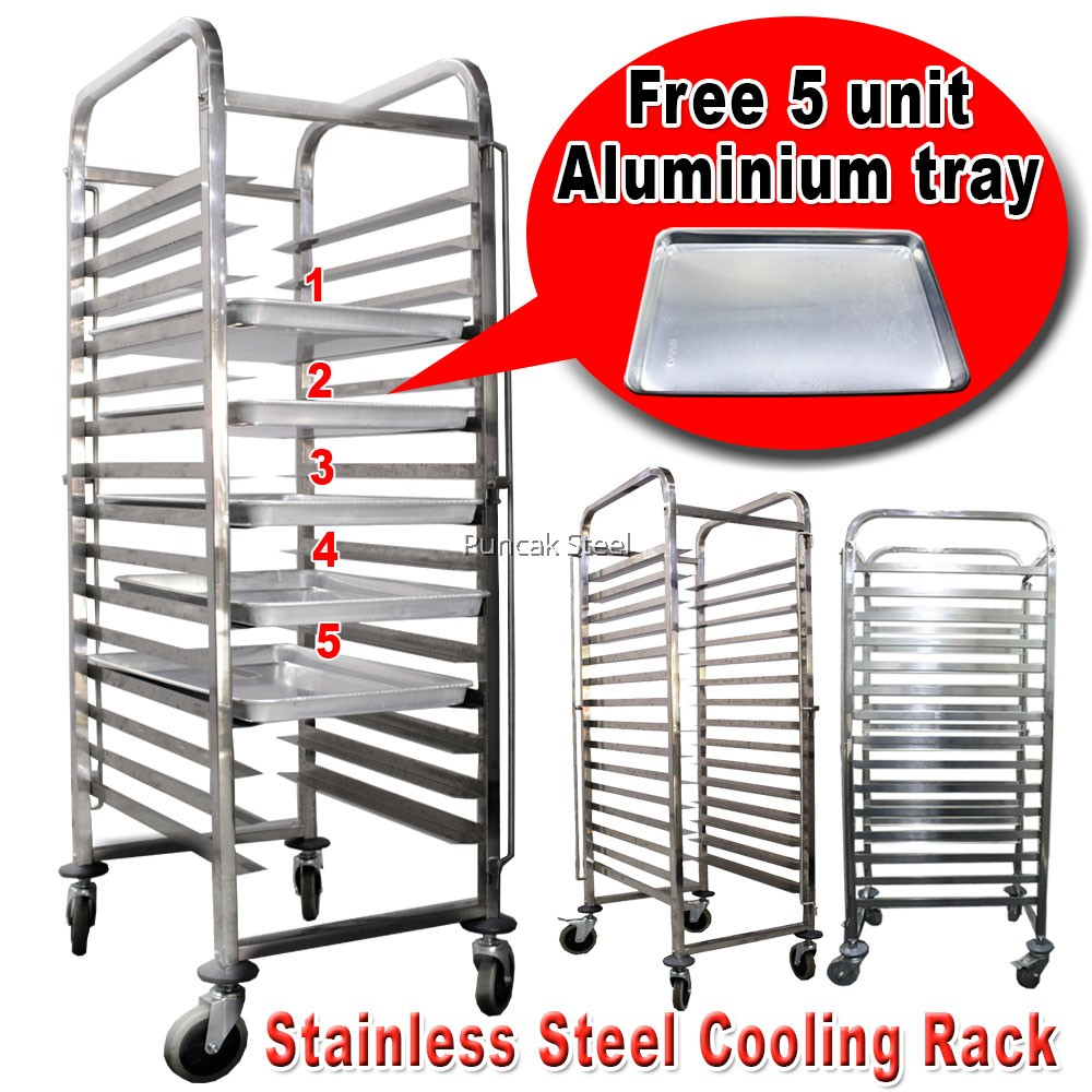 Stainless Steel Cooling Baking Rack With Free Baking Tray