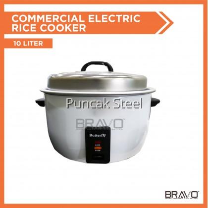 BUTTERFLY 10Liter Commercial Electric Rice Cooker L/50P Periuk Nasi Elektrik Kapasiti Besar Untuk Kenduri Restoran Hotel Kedai Makan Catering