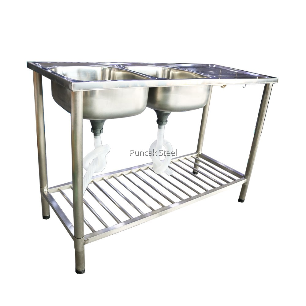Sink With Kitchen Sink Stand Diy Double Bowl Single Drainer