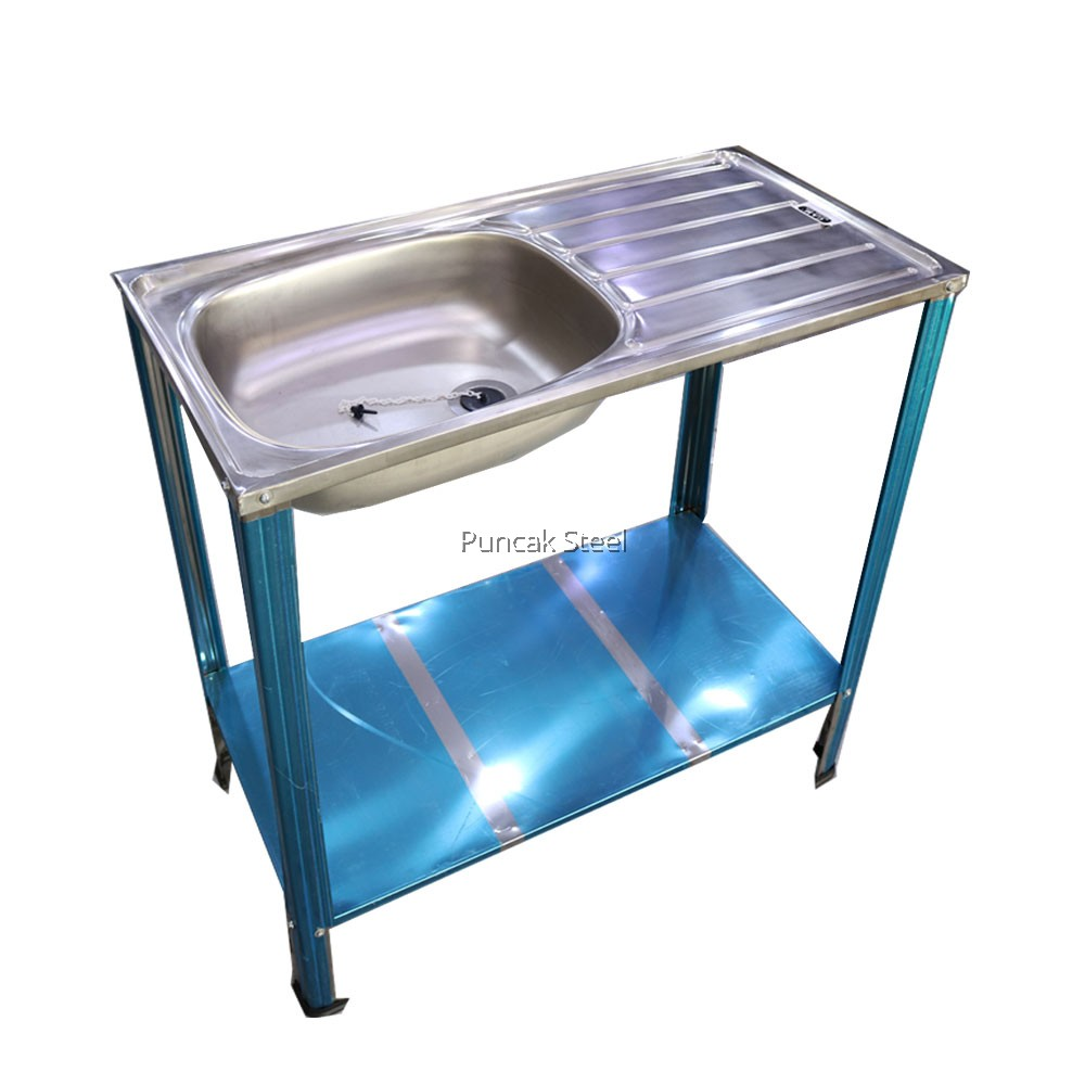 Sink With Kitchen Sink Stand Diy Single Bowl With Wing