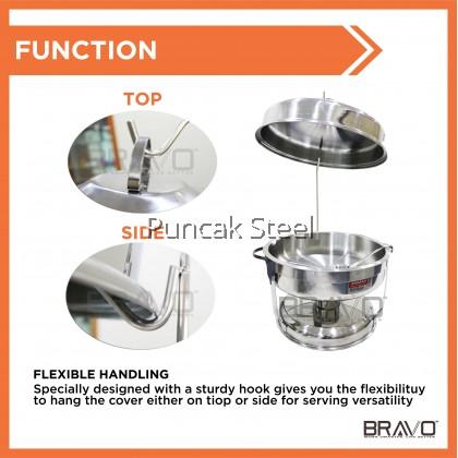 BRAVO [Chafing Dish BIG Round] Buffet Serving Chafer / Bell Dome Chafer / Chafing Dish Bekas Lauk Pauk Catering Hotel Restoren Kenduri Wedding
