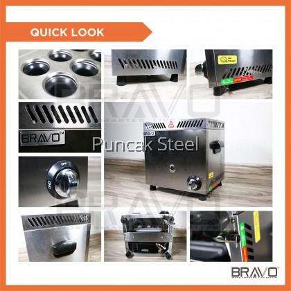 BRAVO 6 Holes Gas Commercial Sausage/ Hot Dog Egg Roll Machine Maker for DIY Breakfast Sausage Hot Dog Egg Roll Machine Maker Healthy Breakfast Snack Street Food Alat Sosej Telur Sosis telur, Steam Egg, Steam Sausages, Telur Gulung