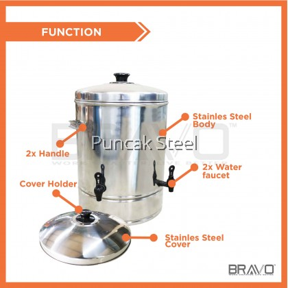 Stainless Steel Water Container Capacity 40 Litres *2 FAUCET