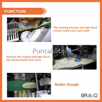 Bravo Stainless Steel Mini Curry Puff Machine for Industry (Automatic)